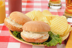 Chicken Sandwiches Royalty Free Stock Photography
