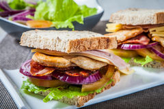Chicken Sanwich Stock Images