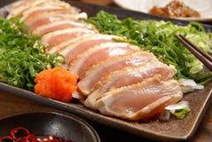 Chicken sashimi Royalty Free Stock Image