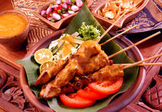 Chicken Satay Royalty Free Stock Images