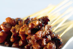 Chicken Satay Royalty Free Stock Photography