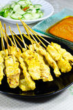 Chicken satay. Royalty Free Stock Image