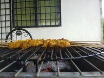 Chicken satay. Asian chicken satay Royalty Free Stock Image