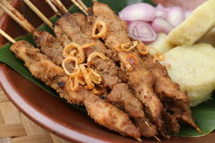 Chicken Satay from Blora Royalty Free Stock Photography