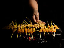 Chicken Satay Stock Photo