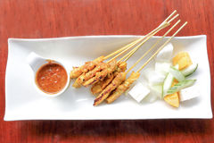 Chicken satay grill Royalty Free Stock Images