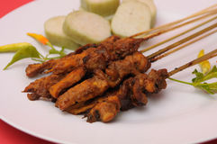 Chicken Satay Indonesian Cuisine Stock Photography