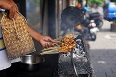 Chicken Satay from Java, Indonesia stock photography