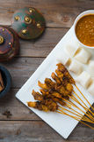 Chicken satay popular Royalty Free Stock Photography