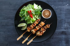 Chicken Satay or Sate Ayam - Malaysian famous food. Stock Image