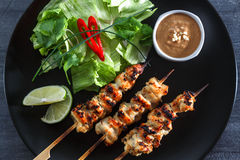 Chicken Satay or Sate Ayam - Malaysian famous food. Stock Images