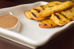 Chicken Satay Spicy Peanut Sauce Royalty Free Stock Photos
