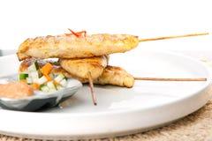 Chicken Satay Thai Skewers Royalty Free Stock Photo