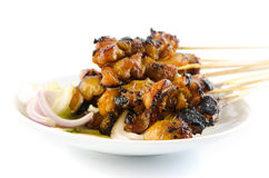 Chicken satay. Royalty Free Stock Photography