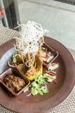 Chicken Sate Skewers. Thai groumet cuisine stock photos