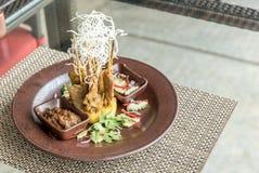Chicken Sate Skewers. Thai groumet cuisine stock photography