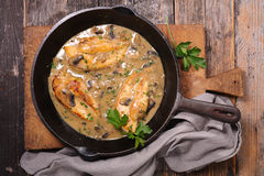 Chicken with sauce Royalty Free Stock Image