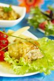 Chicken in sauce from honey and mustard Royalty Free Stock Images