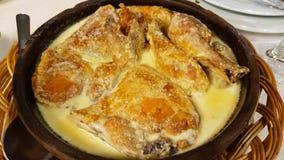 Chicken with sauce, Tbilisi, Georgia. Chicken with sauce in Tbilisi, Georgia royalty free stock photo