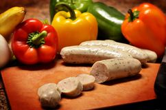 Chicken Sausage and veggies Royalty Free Stock Images