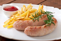 Chicken sausages grilled Stock Photography