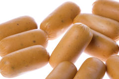 Chicken Sausages Isolated Royalty Free Stock Image