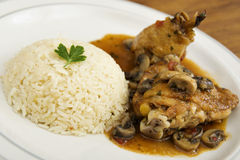 Chicken Saute Chasseur Royalty Free Stock Images