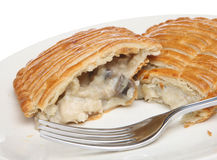 Chicken Savoury Pastry Slice. Hot chicken & mushroom pastry slice, ideal as a snack Stock Photos