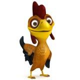 Chicken say hello Royalty Free Stock Photos