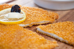 Chicken schnitzel Royalty Free Stock Photography