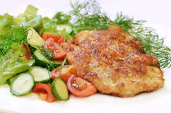 Chicken schnitzel Royalty Free Stock Images