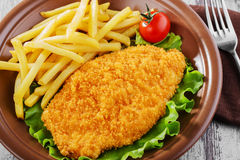 Chicken schnitzel Royalty Free Stock Photos