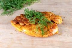 Chicken schnitzel Stock Image