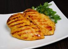 Chicken schnitzel, grilled Stock Image