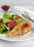 Chicken schnitzel with vegetable garnish Stock Images