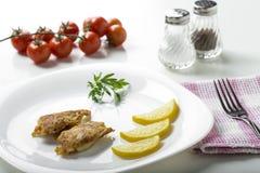 Chicken schnitzel Royalty Free Stock Photo