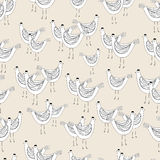 Chicken seamless pattern Stock Image