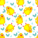Chicken seamless pattern Royalty Free Stock Images