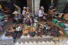 Chicken seller Stock Photo
