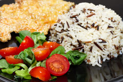 Chicken in sesame dish Stock Images