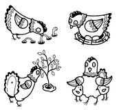 Chicken set Royalty Free Stock Images