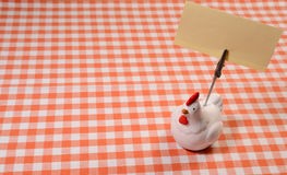 Chicken memo holder Stock Image