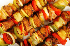 Chicken shashlick Stock Photo