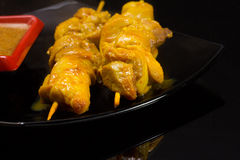 Chicken shashlik Stock Photos