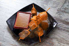 Chicken shashlik Royalty Free Stock Photography