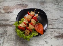 Chicken shashlik Royalty Free Stock Photos