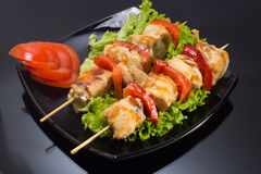 Chicken shashlik Royalty Free Stock Photo