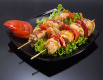 Chicken shashlik Royalty Free Stock Image