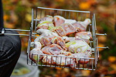 Chicken shashlik Stock Photography