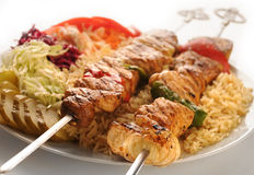 Chicken shashlik Stock Photo